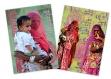 Lot de 2 cartes postales de femmes indiennes