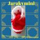 Chaussons rouges finalisés par une bande blanche scintillante pour une allure festive !!! chaussons bébés laine noël fait main @ jarakymini, layette fait main petits prix, vêtements enfants handmade, doudous, accessoires, cadeaux de noël made-in-france so