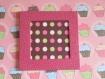 Trio de minis cadres photos magnétiques cupcake rose à personnaliser