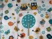 Sac à dos maternelle personnalisé thaÏs, thème les hiboux et chouettes. sur commande