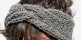 Headband / bandeau tressé - gris