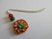 Marque-pages tartelette fraise / kiwi en fimo