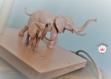 Lampe enfant éléphant rose pâle