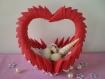 Coeur déco réalisé en papier, verre, coquillages + origami