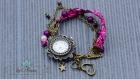 Bracelet montre manchette liberty violet