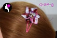 Lot de 2 barrettes à fleur satin (ref g-34) - différents modèles au choix