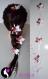 Fleur de tresse satin (ref q-02) - différents modèles au choix