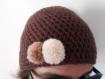 05. bonnet marron au crochet
