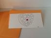 Carte 'coeur rouge' avec son enveloppe.
