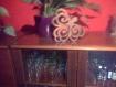 Dessous de plat ou décoration feuille  en bois de noyer massif