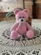 Ours rose crochet amigurumi animal peluche crochet cadeau naissance doudou ours tricot poupée crochet cadeau anniversaire doux ours fait main