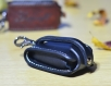 Leather car key holder stocking stuffer, personalized and engraved car remote case. a perfect christmas gift for a driver