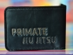 Jiu jitsu club customized gift. a handmade leather wallet and a unique present for a jiu-jitsu master.