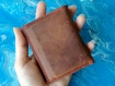 Handmade mens slim leather wallet, hard wearing italian leather made, a very sturdy card holder and a perfect cheap gift that looks costly