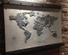 Mappe monde 80*60 cm sur toile et en relief