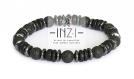 Bracelet homme en pierre de lave, bois de coco et hématite 8 mm inz-i - modèle greg