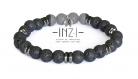 Bracelet homme en pierre de lave et hématite 8 mm inz-i - stan