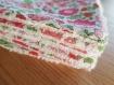 Lingettes lavables démaquillantes ** ou pour bébés ** en liberty --handmade--