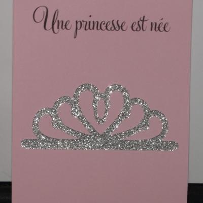Faire part naissance couronne princesse
