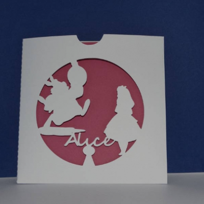 Faire part pochette alice