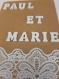 Faire-part mariage paul & marie