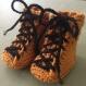Bébés bottes de chantier - crochet