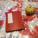 Grand carnet 9x13 cm à couverture rigide (réalisé avec du skivertex)