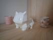 Cache pot de fleur - finition brillante s - look pokemon bulbizarre origami (low poly)