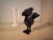 Figurine chocobo de final fantasy - finition brillante - style origami (low poly)