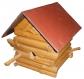 Maison à oiseaux démontable en bois traité