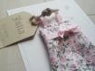 La petite robe n 19 - faire part original naissance baptême fille en tissu