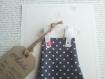 La petite robe n 31 - faire part original naissance baptême fille en tissu
