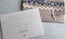 Faire part naissance ou baptême ou baptême rétro n 8 - petites cartes et enveloppes en lin