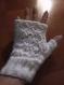 Mitaines blanches brillance douceur irisée