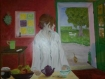Peinture a l'huile sur toile.