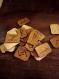Runes de futhark. peau de buffle.