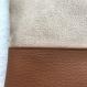 Trousse en daim et simili cuir