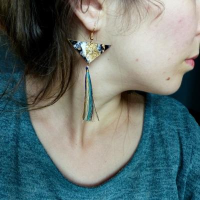 Boucles d'oreilles en plastique fou* comète* cerf-volant*