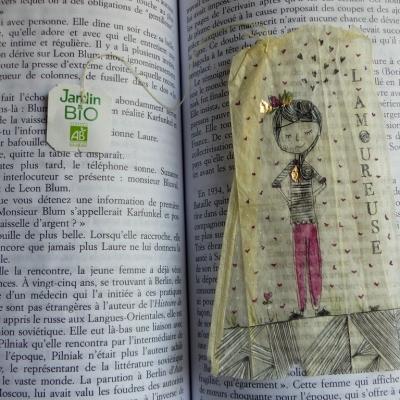 Marque-pages* sachet de thé* l'amoureuse