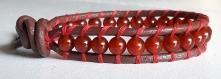 Bracelet wrap rouge