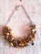 Collier crocheté perles d'eau douce et nacres