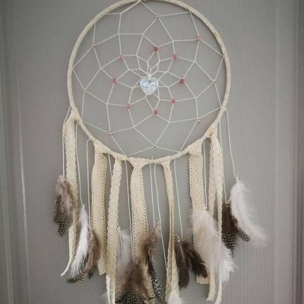 Attrape rêve boho nature (modèle 22cm) : maison-et-deco-attrape-reves par  gypsychicshop
