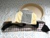 Sac à tarte matelassé et doublé vichy - motifs géométriques gris/jaune/beige/noir