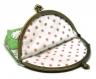 Vendu * porte-monnaie vintage * rétro en coton lapins et pois