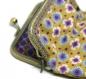 Porte-monnaie vintage * rétro en coton et motifs vintage