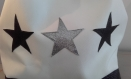 Sac noir et blanc étoiles