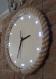 Horloge murale lumineuse, horloge en bois, éclairage de nuit, corde en jute, éclairage, salon, salle à manger, applique murale, rustique