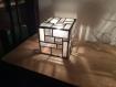 Lampe de table cubique en vitrail tiffany style année 30