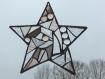 Suspension étoile en vitrail tiffany 17 cm