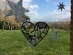 Cœur en vitrail tiffany tons naturels